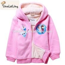 2015 New Winter Girl's winter Cotton Colar Fleece Jackets,Kids Coats,Children's Outwear