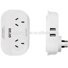 saa australian power socket with usb /usb travel power adapter