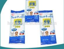 Disposable Pet wet wipes/tissues/towels Moist Towelette