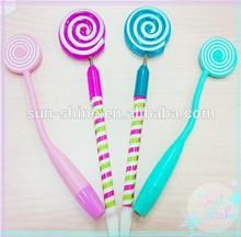 Best Selling Rainbow lollipop Ballpoinjt Pen for Kids