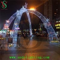 Outdoor LED Christmas light street decoration LED arch motif lights