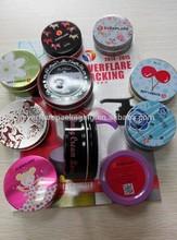 80G offset printing aluminum jar with label sticker logo,cosmetic aluminum jar