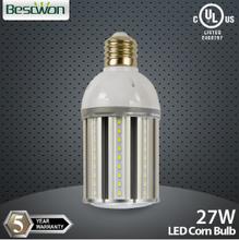 Supply samsung led 5630 2700K-7000K E27 E26 27W LED parking lot bulb