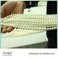 7,5-8 mm aaa1 tondo bianco collana di perle