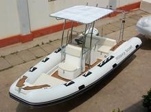 China Cheap 19ft Fiberglass Bottom Inflatable Rib Boat