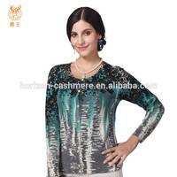 Fashion Print Winter Cashmere Sweater Lady Knitwear