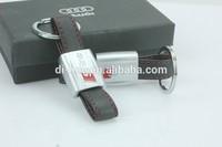 Hot Sale High Quality Leather Sline Car Keychain Car Keyring