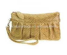 Custom Snake Skin Pattern Leather Wristlet Ladies Leather Purse
