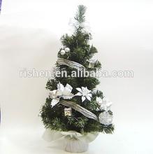 Mini decorate 30cm sliver color christmas tree