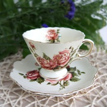 alibaba china supplier manufacturing high quality new products ceramic Old Country Roses Formal Tea Cup and Saucer