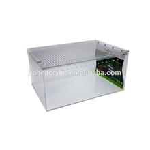 JA-TL-067 Clear acrylic plastic terrarium pet reptile cage