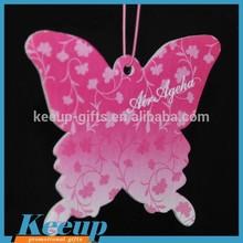 Promotional Custom make hanging paper novelty butterfly car air freshener