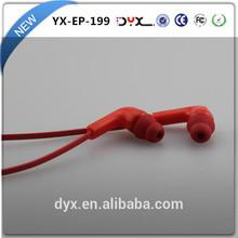 Flat cable earphone with mic beautiful in-ear earphone for iPod iPone5s