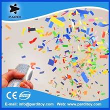 Air compressed tissue paper confetti party popper