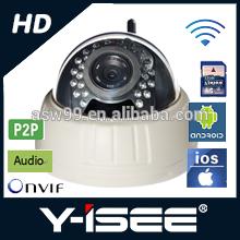 720p indoor dome ip camera two-way audio IR-CUT wireless ip camera