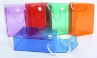 Recycling PVC Material Personal Care Button PVC Cosmetic Bags