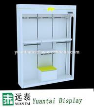 white simple design clothes fashion display rack
