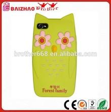 Custom Flower Soft Cartoon Back Cell Phone Cover