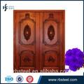 2014 nuevos productos de doble hoja de madera de la puerta de entrada/americano de la puerta delantera/frente a la puerta