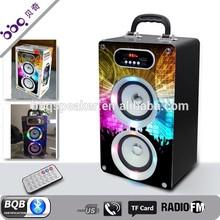 "instrument music crystal light hand free call 18"" subwoofer speaker box"