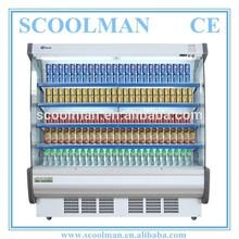 2 to 8C Supermarket Milk Display Upright Cooler