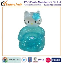 CE PVC kids children animal air inflatable high back chair