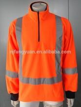 Dfs-p2015 100% casaco de lã Polar Hi Vis laranja Polo camisola com fita reflexiva