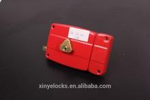 116-120 Iron Lock Case Triangle Cylinder Door Rim Lock