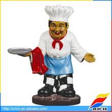 home decor custom polyresin chef figurine