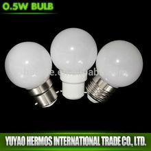 0.5W E27 LED bulbs high quality colorful decorated