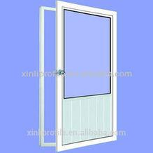 coffee or white upvc casement doors reasonable price from china xinli plastic for pvc/upvc profiles doors
