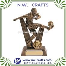 Custom resin 3D figurine soccer sport craft
