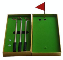 Popular and Fashionable golden box mini golf club Ballpoint Pen Golf Gift