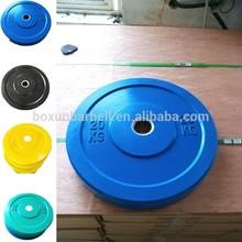 Olympic rubber bumper plate/colored rubber bumper plate