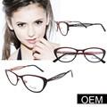 Phantasie brillengestell, neues design schwarz mit rot modell gläsern rahmen für damen metall, china großhandel optische brillen rahmen