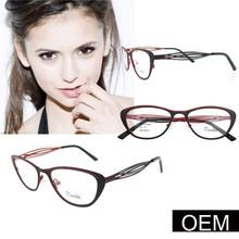 Fancy Glasses Frame,New Design black with red Model Glasses Frame for ladies metal ,China Wholesale Optical Eyeglasses Frame
