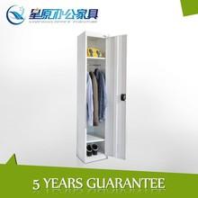 detachable tall thin 1tier cheap steel bedroom wardrobe nordic furniture