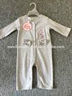 2015 baby fleece CVC long romper