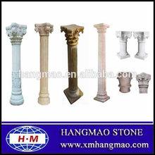 Decorative Roman marble column , stone pillars