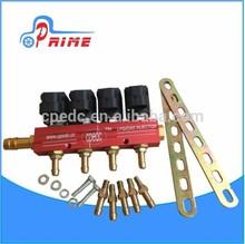 La conversión secuencial deinyección ngv/gncinyector de ferrocarril/4inyector del cilindro