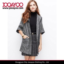 2014 Faux leather trim boiled latest fashion wool coat for women