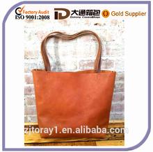 2015 Brown Market Travel Shoulder Leather Tote Bag