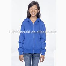 Cheap custom kids winter items plain zip up hoodie