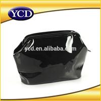 Multifunctional black pvc bag closed with zipper