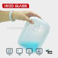 1000ml rectángulo de vidrio a prueba de agua de alimentos recipiente con tapa de plástico