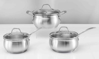 6pcs stainless steel stain cookware with stainless steel handle