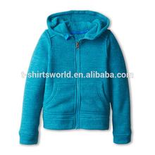 High quality wholesale zip children blank hoodies
