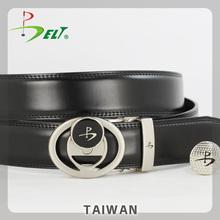 Wholesale Promotional Mens Black High End Trendy Golf Belt for PGA Championship