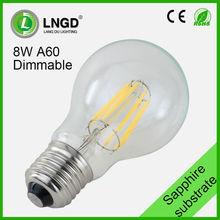 UL custom COB E27 8w decorative dimmable led filament bulb light