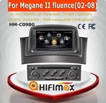 Hifimax car radio for renault fluence car dvd player with gps navigation for renault Megane 2 fluence 2006-2008